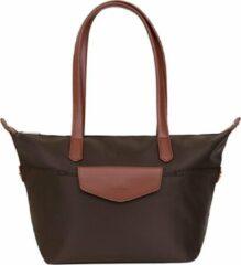 Bruine Hexagona shopper S dark brown