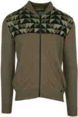 Verde Versace Jeans Maglione maglia uomo con zip