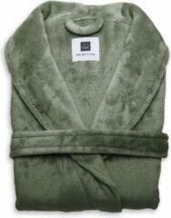 Groene Zo! Home ZoHome Cara Badjas Lang - Fleece - Maat XL - Olive Green