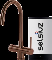 Selsiuz kokendwaterkraan rond - koper - single boiler
