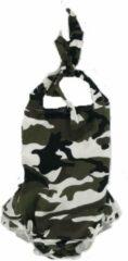 Donkergroene Babybadpakje - Camouflage - 0-6 maanden - Supercute - Babyspa - Babyzwemmen - Kraamkado - Babyshower - Meisje