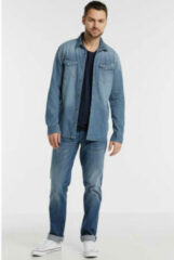 Witte Jack & Jones Jack and Jones Sheridan Heren Overhemd Medium Blauw Kent Slim Fit - M