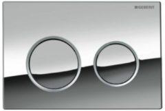Geberit Omega20 bedieningsplaat Omega20 DF kunststof 21.2x14.2cm boven/frontbediend glans/mat/glans chroom 115085kh1