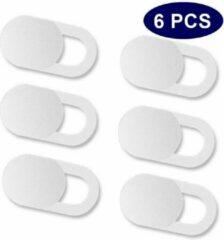 Merkloos / Sans marque Webcam Cover - Privacy schuifje - Geschikt voor Macbook, Laptop en Tablet - wit - 6 stuks