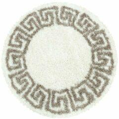 HERA SHAGGY Himalaya Pera Soft Shaggy Rond Hoogpolig Vloerkleed Creme / Beige- 160 CM ROND