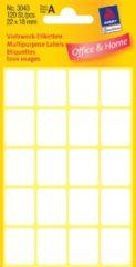 Massamarkt Etiket Zweckform 22x18mm wit blister a 120 etiketjes. Bundel a 10 pakjes