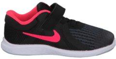 Rosa Laufschuhe Revolution 4 mit Klettverschluss 943308-600 Nike Black/Racer Pink-White