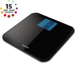 Zwarte Salter personenweegschaal- 250kg weegcapaciteit- 100gr nauwkeurig- design- groot scherm 15jaar garantie