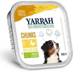YARRAH DOG ALU BROKJES KIP / ALOE VERA IN SAUS GRAANVRIJ HONDENVOER #95; 12X150 GR
