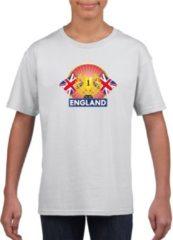 Shoppartners Wit Engels kampioen t-shirt kinderen - Groot Brittannie supporter shirt jongens en meisjes L (146-152)