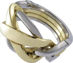 Huzzle Breinbeker Cast Ring Zilver/goud
