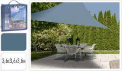 Blauwe Pro Garden schaduwdoek (3,6x3,6x3,6 m)