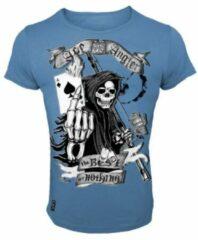 Blauwe Hotspot Design T-Shirt Ace Angler - Maat L