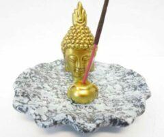 Happy Home Stuff Wierookhouder Gouden Thais Boeddhahoofd op schaal