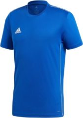 Adidas Core18 Jersey Heren Sportshirt - Maat L - Mannen - blauw