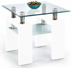 Home Style Bijzettafel Diana 60x55x60 cm breed in wit