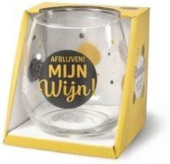 Gouden Miko Wijn- waterglas - Afblijven mijn wijn!