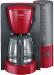 Rode Bosch Koffiezetapparaat ComfortLine TKA6A043, met glazen kan, zwart