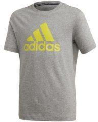 Grijze T-shirt Korte Mouw adidas FQ7721