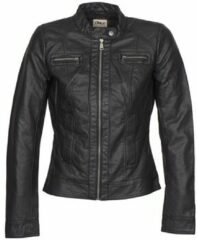 Zwarte Only Onlbandit faux leather biker otw noos Black.