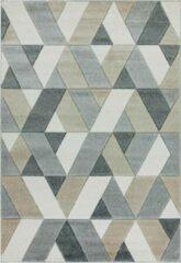 Eazy Living Easy Living - Sketch-Rhombus-Grey Vloerkleed - 200x290 cm - Rechthoekig - Laagpolig Tapijt - Retro - Grijs, Taupe