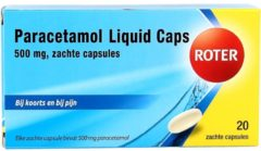 Roter Paracetamol Liquid 500 mg 20 liquidcaps