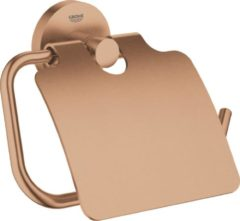 Douche Concurrent Toiletrolhouder Grohe Essentials met Klep Brushed Warm Sunset