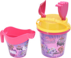 Paarse Free and Easy strandset roze 5-delig