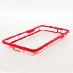 Roze Xccess Hard Bumper Case Samsung Galaxy SII i9100 Pink/Transparant