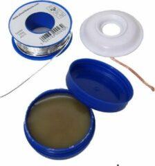 Merkloos / Sans marque Soldeerpasta soldeervet 20gr, litze desoldeerlint 1,5m 2mm, Soldeertin Soldeerdraad 100gr Soldeer set