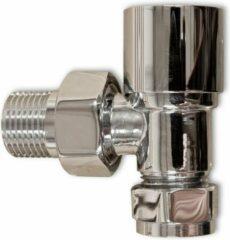Linea Uno - Radiator kraan haaks chroom TYPE 16 - Chroom - 409016