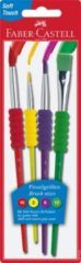 Faber-Castell Faber Castell FC-481600 Penselenset Plastic 4 Stuks