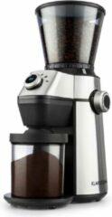 Zilveren Klarstein Triëst koffiemolen kegelmaalwerk 150W 300g 15 maalgradaties rvs