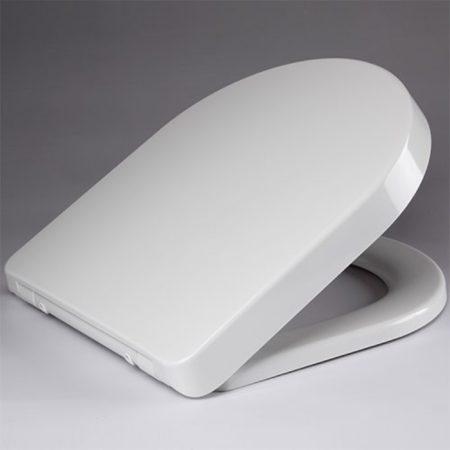 Afbeelding van Douche Concurrent Toiletbril DeeLine Softclose en Quickrelease Toiletzitting 43.5x35.6x4cm Wit