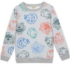 Grijze KENZO KIDS Georges sweater met animaldessin