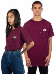 Bordeauxrode Rip N Dip Lord Nermal Pocket T-Shirt rood