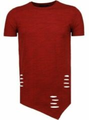 Rode T-shirt Korte Mouw Tony Brend Sleeve Ripped - T-Shirt