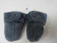 Blauwe Slofjes, veloudoux booties blue , noukie's maat 18