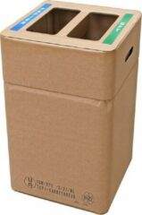 Naturelkleurige Afvalbox Duo Afvalbak karton papier/GFT