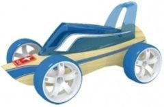 Fun & Feest Party Gadgets Roadster raceauto bamboe speelgoed auto 8 cm