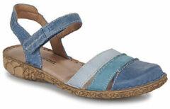 Josef Seibel ROSALIE 44 - Volwassenen Platte sandalenDames Sandalen - Kleur: Blauw - Maat: 41