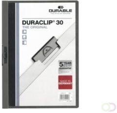 Bruna Klemmap Durable 2200 A4 3mm antraciet/grijs