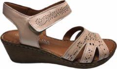 Manlisa dames velcro sandaal roze mt 39