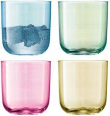 LSA International L.S.A. Polka Waterglazen 420 ml - Set van 4 Stuks - Pastel