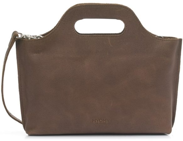 Afbeelding van Bruine Myomy Dames Handtassen My Carry Bag Mini - Taupe - Maat 0