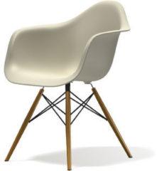Vitra DAW Gestell schwarz - creme - Sitzhöhe 43 cm