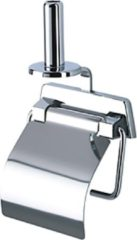 Geesa Standard closetrolhouder met veer met klep en reserverolhouder chroom 915144A