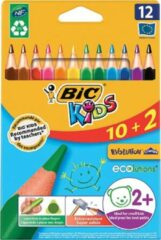 Bic Kids Evolution Triangle kleurpotloden, etui 10 + 2 gratis