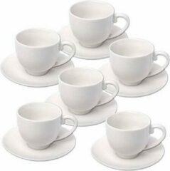 Alpina 12x Stuks Espresso Koffiekopjes En Schotels Set - Keuken/koffie Koppen Accessoires