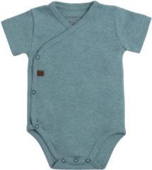 Groene Baby's Only Rompertje Melange - Stonegreen - 56 - 100% ecologisch katoen - GOTS